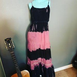 Earthbound Trading Company Boho Dress Tye Dye L